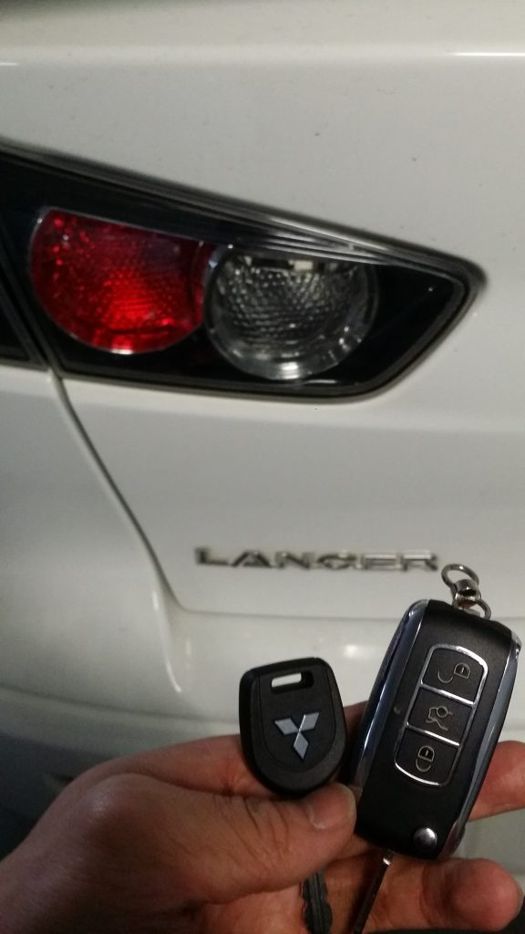 Mitsubishi Lancer 2012 Remote Key Replacement Melbourne